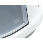 Trixie kattenbak primo xxl met kap grijs / wit (71X56X47 CM)
