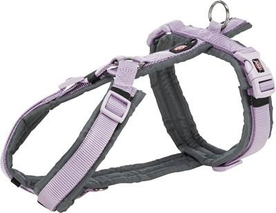 Trixie hondentuig premium trekking lila / grijs (62-74X2,5 CM)