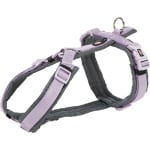 Trixie hondentuig premium trekking lila / grijs (70-85X2,5 CM)