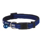 Trixie halsband kat safer life fluweel reflecterend assorti
