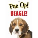 Waakbord nederlands kunststof beagle (21X15 CM)