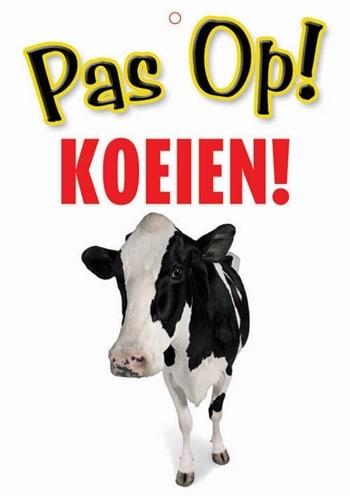 Waakbord nederlands kunststof koeien (21X15 CM)