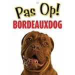 Waakbord nederlands kunststof bordeaux dog (21X15 CM)