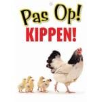 Waakbord nederlands kunststof kippen (21X15 CM)