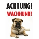 Waakbord nederlands kunststof waakhond (21X15 CM)