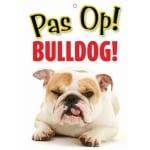 Waakbord nederlands kunststof bulldog (21X15 CM)