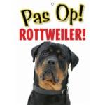 Waakbord nederlands kunststof rottweiler (21X15 CM)