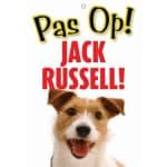 Waakbord nederlands kunststof jack russell (21X15 CM)
