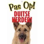 Waakbord nederlands kunststof duitse herder (21X15 CM)