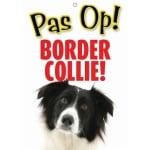 Waakbord nederlands kunststof border collie (21X15 CM)