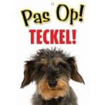Waakbord nederlands kunststof teckel (21X15 CM)