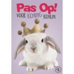 Waakbord kunststof studio p koning konijn (21X15 CM)