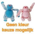 Harige aap roze/blauw (22 CM)