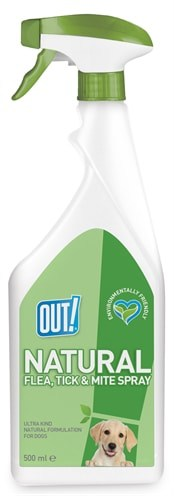 Out! natural flea tick and mite spray (500 ML)