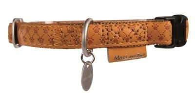 Macleather halsband bruin (15 MMX20-40 CM)