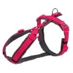 Trixie hondentuig premium trekking fuchsia / grijs (36-44X1,5 CM)