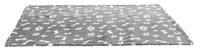 Trixie hondendeken kenny fleece bot / pootjes grijs (150X100 CM)