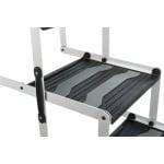 Trixie vouwtrap 4-delig aluminium / kunststof / tpr tot 75 kg (160X37X70 CM)