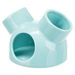 Trixie speelhuis muizen met 3 ingangen keramiek turquoise (12X12X10 CM)