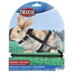 Trixie konijnentuig met riem assorti (25-44X0,8+130 CM)