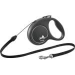 Flexi rollijn black design cord zwart (S 5 MTR TOT 12 KG)