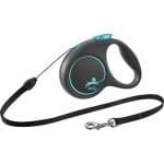 Flexi rollijn black design cord blauw (S 5 MTR TOT 12 KG)
