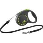 Flexi rollijn black design cord groen (S 5 MTR TOT 12 KG)