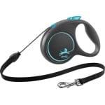 Flexi rollijn black design cord blauw (M 5 MTR TOT 20 KG)