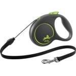 Flexi rollijn black design cord groen (M 5 MTR TOT 20 KG)