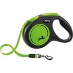 Flexi rollijn new neon tape zwart / neon groen (M 5 MTR TOT 25 KG)