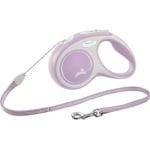 Flexi rollijn new comfort cord roze (S 5 MTR TOT 12 KG)