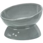 Trixie voerbak kat xxl keramiek verhoogd grijs (350 ML 17 CM)
