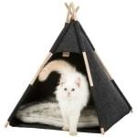Trixie kattenmand tipi vilt antraciet (55X55X65 CM)