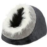 Trixie kattenmand iglo minou donkergrijs / lichtgrijs (41X30X50 CM)