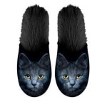 Plenty gifts pantoffel kat zwart (MAAT 35-38)