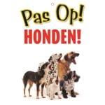 Waakbord nederlands kunststof honden (21X15 CM)
