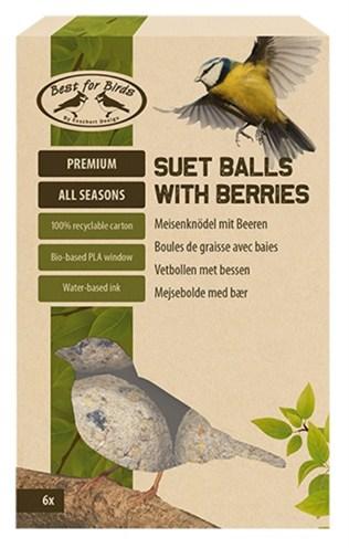 Best for birds vetbollen met bessen (6 ST)