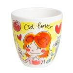 Blond amsterdam kopje cat lover (0,2L 8X8X8,5CM)