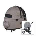 Airbuggy hondenbuggy dome2 sm earth bruin (53X31X52 CM / 96X53,5X99 CM)