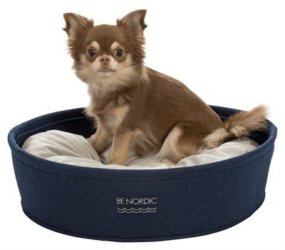 Trixie be nordic hondenmand vilt donkerblauw / beige (55X45 CM)