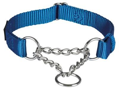 Trixie halsband hond premium chocker royal blauw (35-50X2 CM)