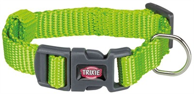 Trixie halsband hond premium appelgroen (15-25X1 CM)