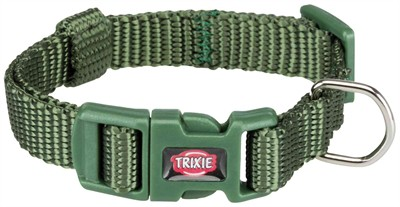 Trixie halsband hond premium bosgroen (15-25X1 CM)