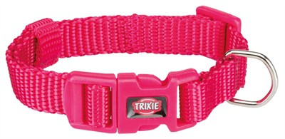 Trixie halsband hond premium fuchsia (15-25X1 CM)