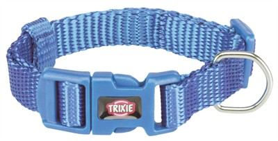 Trixie halsband hond premium royal blauw (15-25X1 CM)