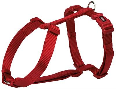 Trixie hondentuig premium h-tuig rood (60-87X2,5 CM)