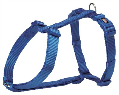 Trixie hondentuig premium h-tuig royal blauw (60-87X2,5 CM)