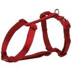 Trixie hondentuig premium h-tuig rood (42-60X1,5 CM)
