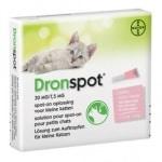 Bayer dronspot kat spot on (S 0,5-2,5 KG 2 PIP)