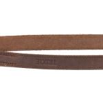 Trixie hondenriem rustic verstelbaar vetleer donkerbruin (200X1,2 CM)